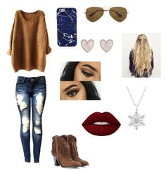 Sin título #112 by magali-175 on Polyvore featuring Yves Saint Laurent, New Look, Marc Jacobs, Ray-Ban and Lime Crime