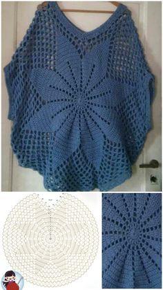 Débardeurs Au Crochet, Crochet Girls, Crochet Woman, Crochet Shawl, Crochet Stitches, Crochet Baby Sweater Pattern, Crochet Poncho Patterns, Dress Patterns, Knitting Patterns