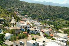 Axos Village in the Mountains of Crete Greece