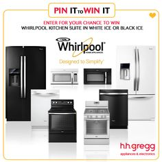Win Black or White Whirlpool Ice Suite (over $3,500 value) & daily h.h. gregg gift cards in our Whirlpool Pin It to Win It Sweeps! Click to enter, then repin!