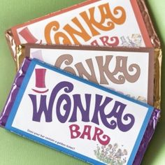 Make your own scrumdiddlyumptious Wonka Bar invitations with a surprise golden ticket.