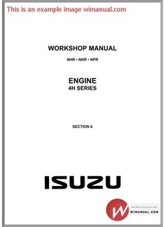 Isuzu d max 2011 4jj1 engine service manualpdf pdfy mirror isuzu 4h series diesel engine service manual pdf download this manual has detailed illustrations as fandeluxe Images