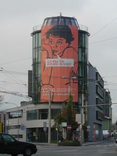 Fassadenwerbung SOHO (1) am Büroturm Fürstenweg/Innsbruck #planetimmobilien #cityreal