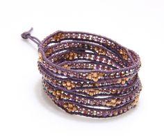 Honeycomb Wrap Bracelet-Purple - Nakamol Chicago