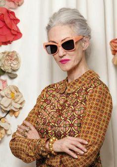 Karen Walker Sunglasses, Ray Ban Wayfarer, Sunnies, Women's Sunglasses, Sunglasses Outlet, Sunglasses Online, Ari Seth Cohen, 65 Years Old, Older Models