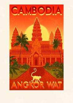 Cambodia - Angkor Wat Poster ~ Rui Ricardo