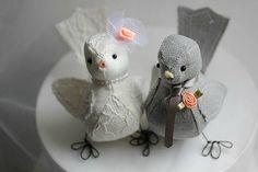 Wedding Love birds cake topper   Wedding by strawberriesandcream, $75.00
