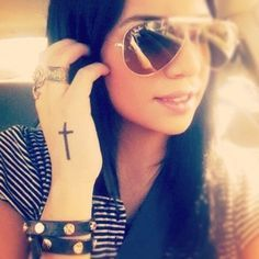 28 Small Cross Tattoos for Girls (5)