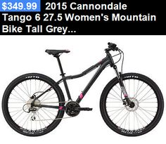 bicycles: 2015 Cannondale Tango 6 27.5 Womens Mountain Bike Tall Grey/Pink BUY IT NOW ONLY: $349.99