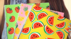DIY: Fruity Notebook Covers | Back to School