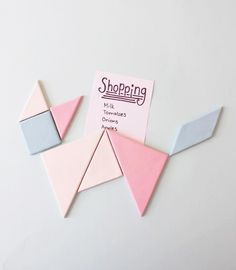 Bring geometry to your fridge with these DIY tangram magnets.