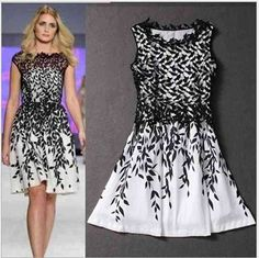 100% Brand New Item NO. : 667049 – 667060 Color: White, Black (as pictures shown) Conversion: 1 inch= 2.54cm US Size Length Shoulder Bust Waist S 34.25 inch …