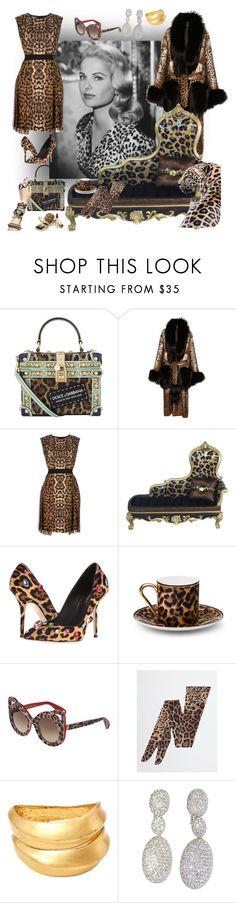 """Leopardo 🐾🐆"" by hyunaluna ❤ liked on Polyvore featuring Dolce&Gabbana, Giambattista Valli, Asprey and Lanvin"