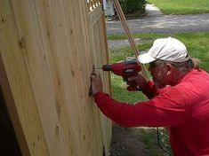 How to Build a Wooden Gate Professionally Building A Wooden Gate, Building A Fence, Wooden Gates, Driveway Gate, Fence Gate, Fence Panels, Garden Gate, Fences, Fence Options