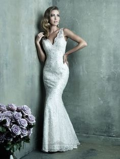 Allure Couture Wedding Dresses - Search our photo gallery for pictures of wedding dresses by Allure Couture. Find the perfect dress with recent Allure Couture photos. V Neck Wedding Dress, 2016 Wedding Dresses, Wedding Dress Trends, Wedding Dress Styles, Bridal Dresses, Wedding Blog, Dresses 2014, Wedding Gowns, Wedding Shoppe