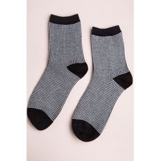 Brandy Melville houndstooth socks black and white HOUNDSTOOTH SOCKS 3/4 crew length ribbed knit socks in black and white houndstooth weave. Brand new with tags. Brandy Melville Accessories Hosiery & Socks