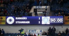Rangers lose their 100% league winning streak as Stranraer hold the Ibrox side to a draw at home
