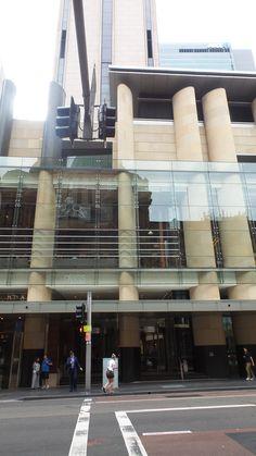Street view of the Hilton Sydney Hotel Marina Bay Sands, Sydney, Street View, Australia, Building, Travel, Viajes, Buildings, Destinations