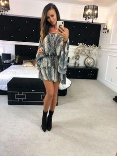 d8908744f2 O la voga sukienka hiszpanka nietoperz szary wąż  musthave  butik   longdress  holidaydress