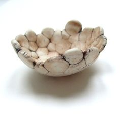 This ceramic bowl looks like it was made from smooshed marshmallows! Ha!