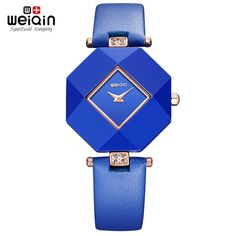 21.42$  Watch here - http://aliqbp.shopchina.info/go.php?t=32773543970 - Real Ceramic 2017 New Blue Star Jewelry Watch Fashion Gift Table Women Watches Jewel Gem Cut Black Surface Geometry Wristwatches 21.42$ #aliexpressideas