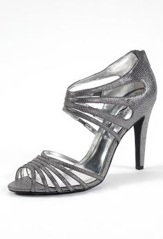 High Heel Textured Zipper Back Sandal from Camille La Vie and Group USA