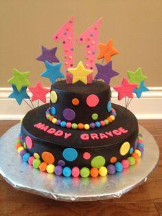 Resultado de imagen para tortas colores neon