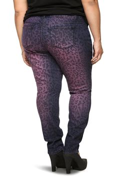 Amazon.com: Torrid Denim - Purple Overdye Leopard Sophia Skinny Jeans: Clothing