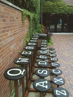Qwerty typewritter benches.