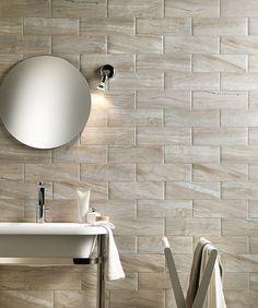 "Gallura Crystal Mattoncino 4"" x 12"" matte interior floor and wall tile"