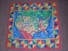 Obsessively Stitching: Flashback Friday -- U.S. Map Quilt