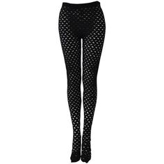 Preowned Iconic Gianni Versace Couture Punk Cut-out Leggings ($840) ❤ liked on Polyvore featuring pants, leggings, black, cut out leggings, versace leggings, cut-out pants, punk rock pants and legging pants