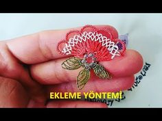 YouTube Needle And Thread, Embroidery Thread, Crochet Lace, Diy Tutorial, Brooch, Floral, Flowers, Lace, Needlepoint