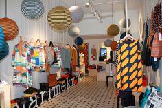 So lovely little boutique in the heart of Helsinki! Marimekko´s Marikiska in Helsinki, Uudenmaankatu 13 Photo: myPose Oy Visit Helsinki, Marimekko, How Beautiful, Finland, Anthropologie, Boutique, Heart, Style