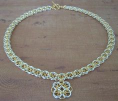 Helm Weave Chainmaille Necklace Set
