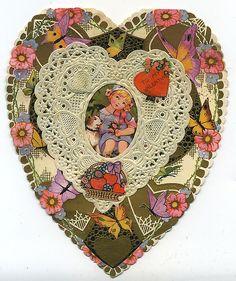 Homemade Heart Valentine - c. 1930