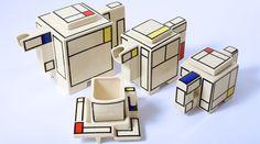 Set de té Mondrian #diseño #productos #industrial