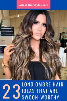 Let's jazz up your overflowing tresses with some ombré. You'll love these creative ombre ideas! Try different color combinations for a touch of exotic. Photo credit: Instagram @hairby_chrissy Long Ombre Hair, Latest Hairstyles, Nail Tips, Photo Credit, Color Combinations, Jazz, Looks Great, Exotic, Most Beautiful