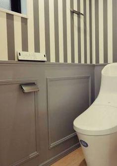 「トイレ ストライプ」の画像検索結果 Toilet, Kitchen Cabinets, House Design, Interior, Tapas, Home Decor, Wall Paintings, Flush Toilet, Decoration Home