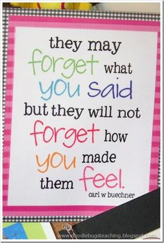 "Doodle Bugs Teaching {first grade rocks!}: ""They May Forget…"" {free download}"