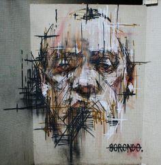 Borondo dans les rues de Vitry-sur-Seine