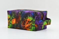 Marble Texture Quilted Cosmetic Bag with by DoreensBabyBoutique
