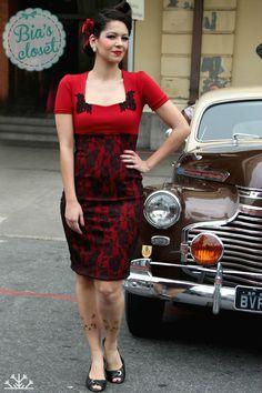Vestido ALINE justo - Coleção Rendas