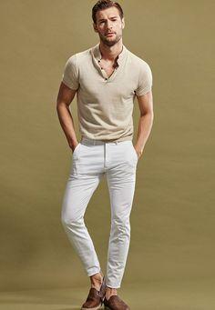 Massimo Dutti The Polo Shop Spring/Summer 2016 Men's Lookbook #menswear #style #beige #white