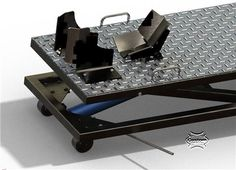 Worlds best motorcycle lift table plans for home and professional motorcycle mechanics and builders.