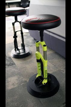Bike shocks bar stools