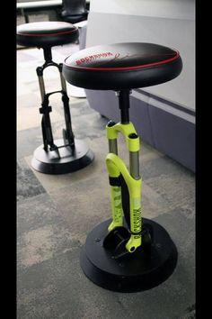 Bike shocks bar stools