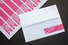 Holiday Envelope Labels - Back