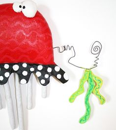 JeLLyFish with SeaWeed ... named Charmin ... red by buttuglee