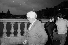 """Martin Parr IRELAND. Dublin. O'Connell Bridge. From 'Bad Weather"""". October. 1981."""